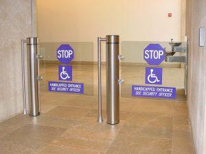 klapdeuren voor toegangscontrole en entreebeveiliging