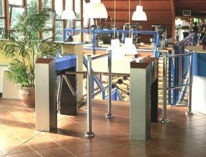 Tourniquet type TR490 bestemd voor de toegangscontrole bij bedrijven, sportscholen en recreatievoorzieningen.