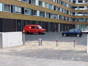Bollard parkeerterrein