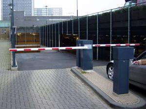 Slagboom parkeerdek